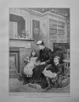 Happy Childhood Days at Claremont : The Duchess of Albany Reading to her Children. 1904.