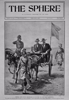 General Louis Botha Blindfolded on his way to the Peace Conference. 1902.