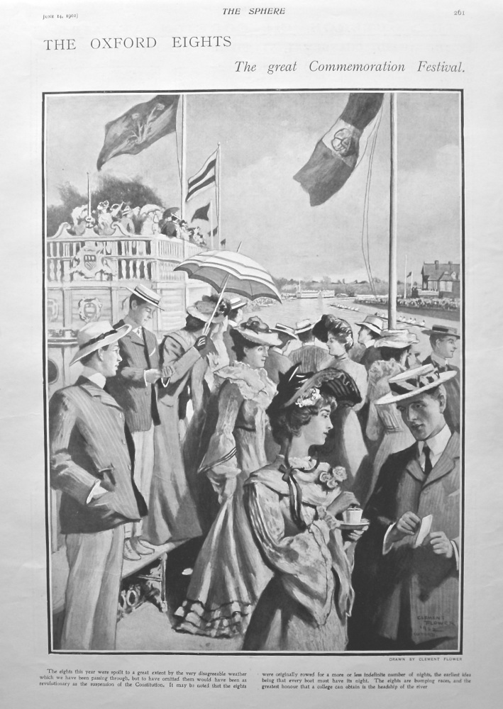 The Oxford Eights : The Great Commemoration Festival. 1902.