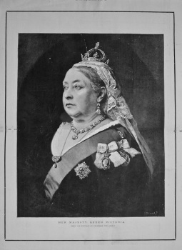 Her Majesty Queen Victoria. (From the Portrait by Professor Von Angeli). 1901.