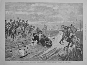 First Contact between Russian and German Troops - A Skirmish with the Cossacks at Alexandrovo. 1892.