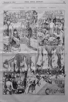 Christmas in the London Shops. 1888.