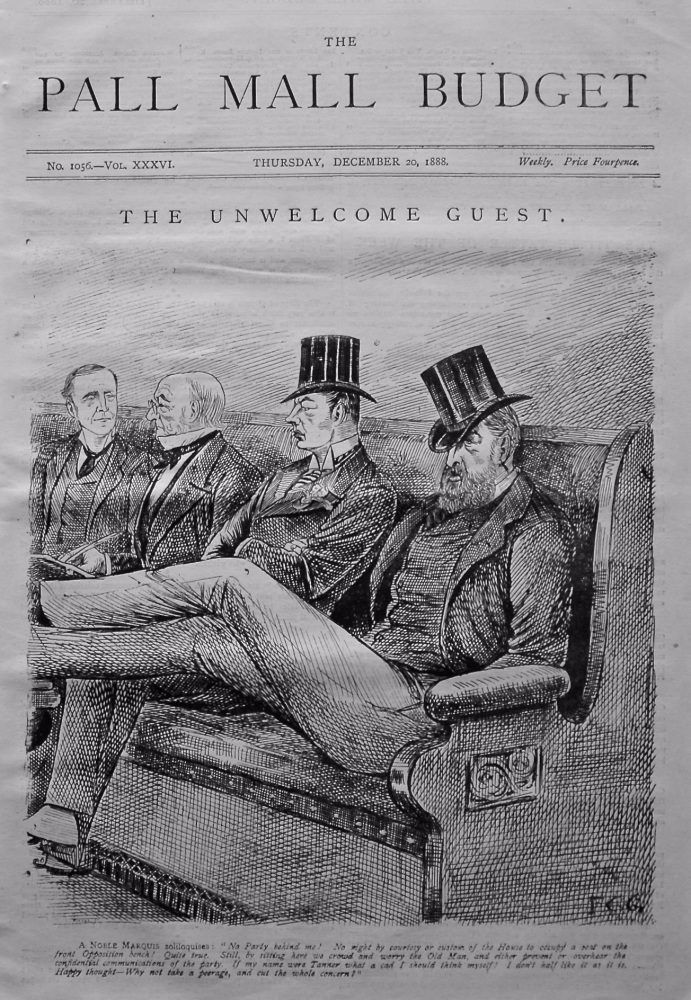 The Pall Mall Budget. (Front Page)  The Unwelcome Guest.