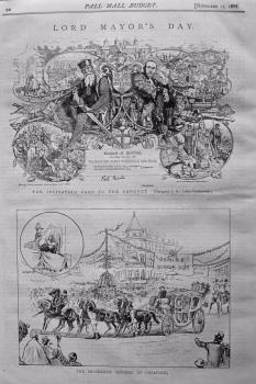 Lord Mayor's Day. (London) 1888.
