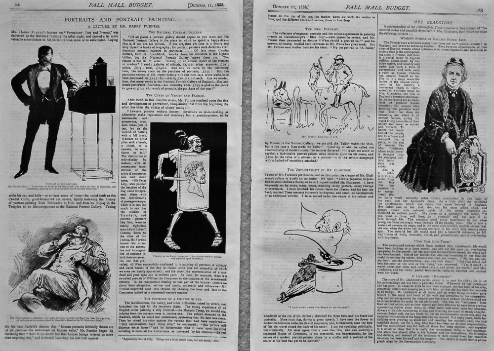 Portraits and Portrait Painting. (A Lecture by Harry Furniss). 1888.