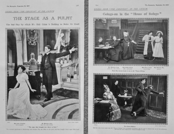 """Scenes from """"The Christian"""" at the Lyceum. 1907."""