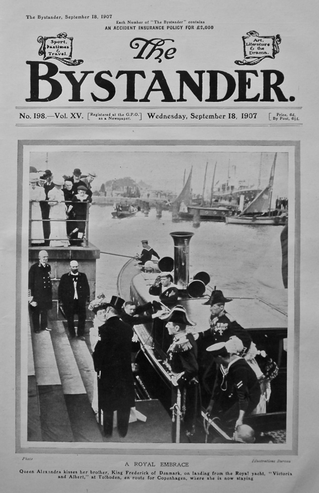 A Royal Embrace.  (Queen Alexandra & King Frederick of Denmark.) 1907.