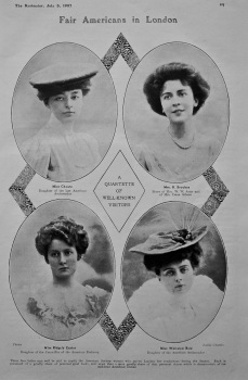 Fair Americans in London. 1907.