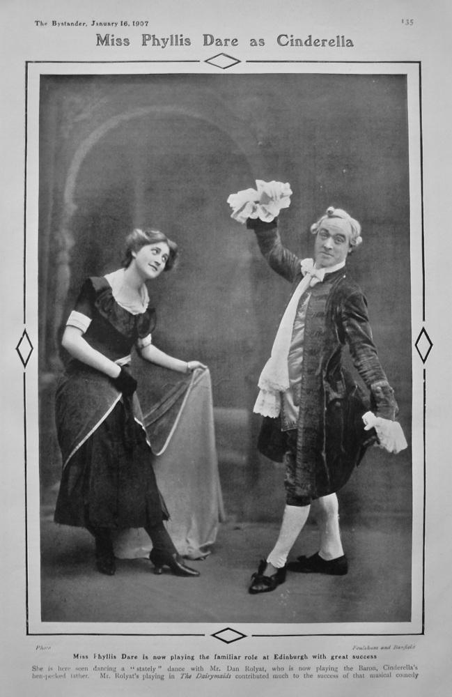 Miss Phyllis Dare as Cinderella. 1907.