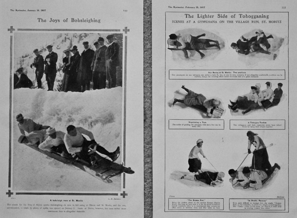 The Lighter Side of Tobogganing & The Joys of Bobsleighing.  1907.