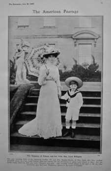 The American Peerage : The Countess Craven and her little Son, Lord Uffington. 1907.