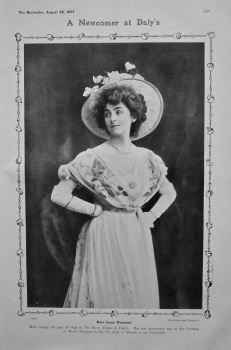 A Newcomer at Daly's : Miss Irene Desmond. 1907.