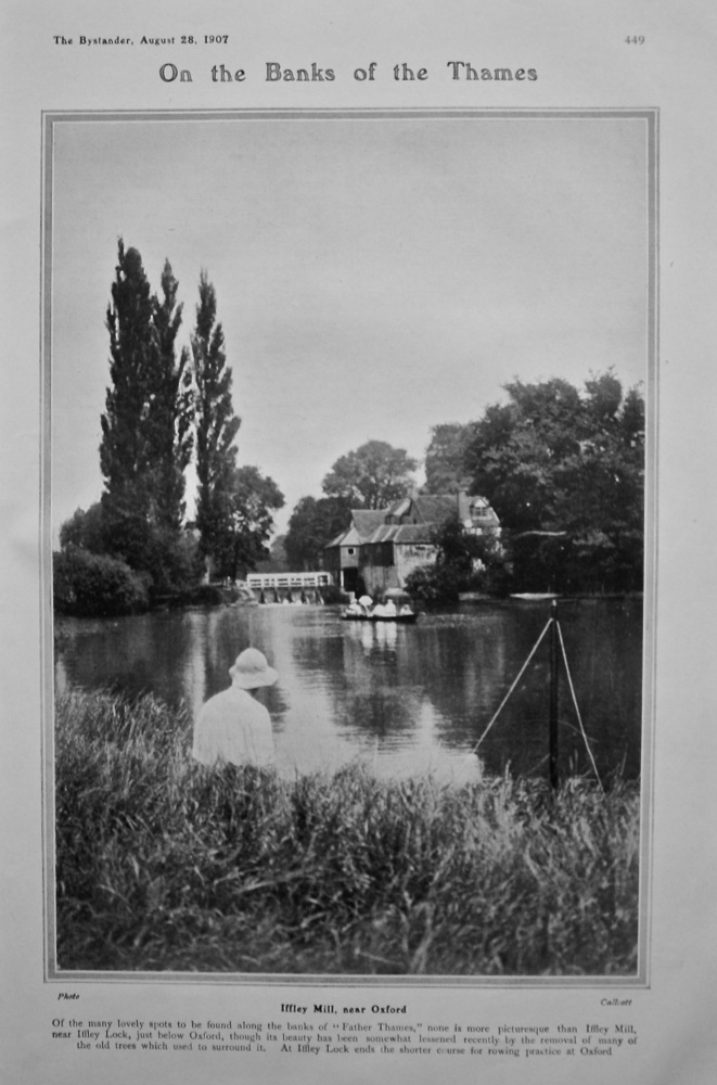 On the Banks of the Thames : Iffley Mill, near Oxford.  1907.