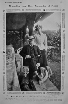 Councillor and Mrs. Alexander at Home. 1907.