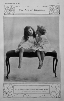 The Age of Innocence : Mary and Simon, the children of the Hon. Mrs. Archibald Morrison. 1907.