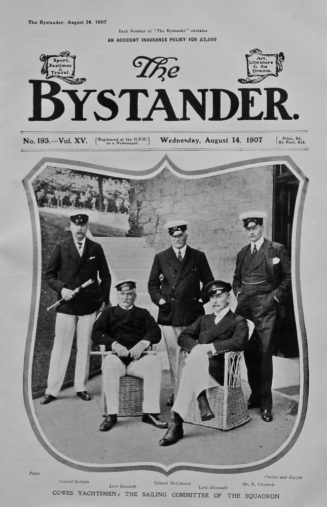 Cowes Yachtsmen : The Sailing Committee of the Squadron. 1907.