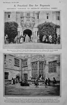 A Practical Use for Pageants : Historical Tableaux to Decorate Ancestral Homes !.  1907.