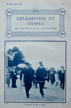 Celebrities at Cowes. (Supplement) 1907.