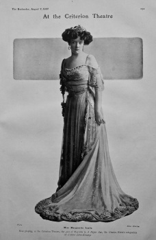 At the Criterion Theatre : Miss Marguerite Leslie.  1907.