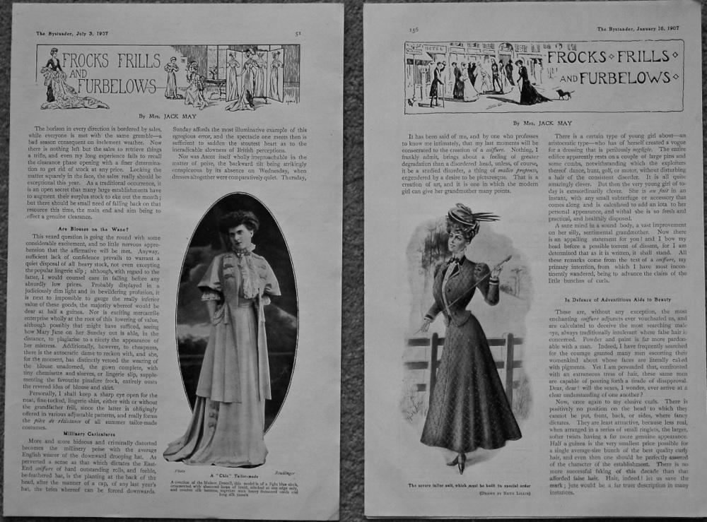 Frocks Frills and Furbellows. 1907.