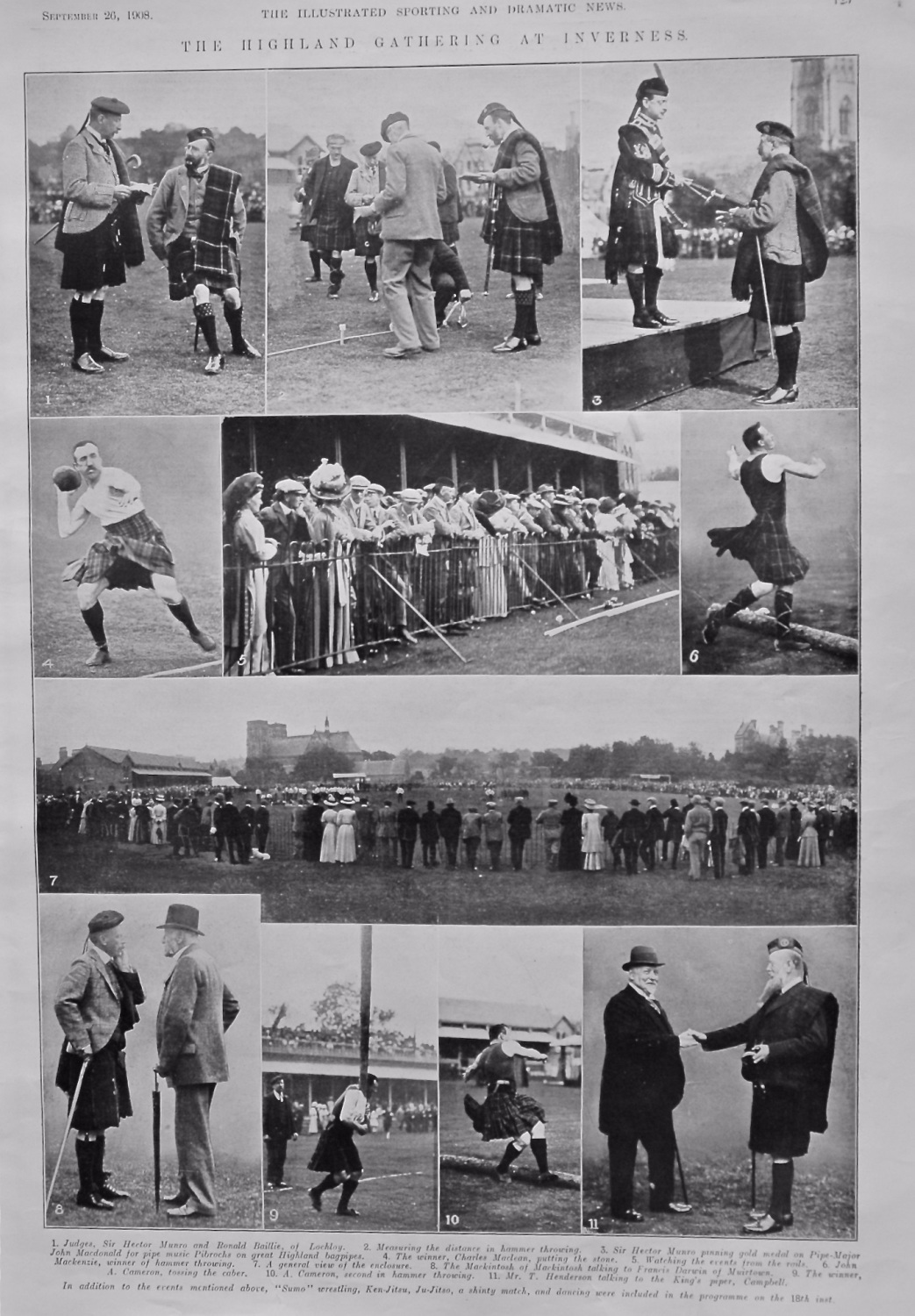 The Highland Gathering at Inverness.  1908.