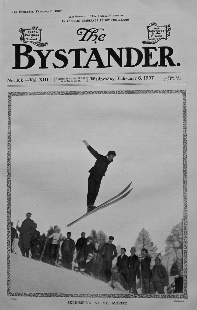 Ski-Jumping at St. Moritz.  1907.
