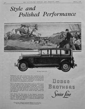 Dodge Brothers. 1928.