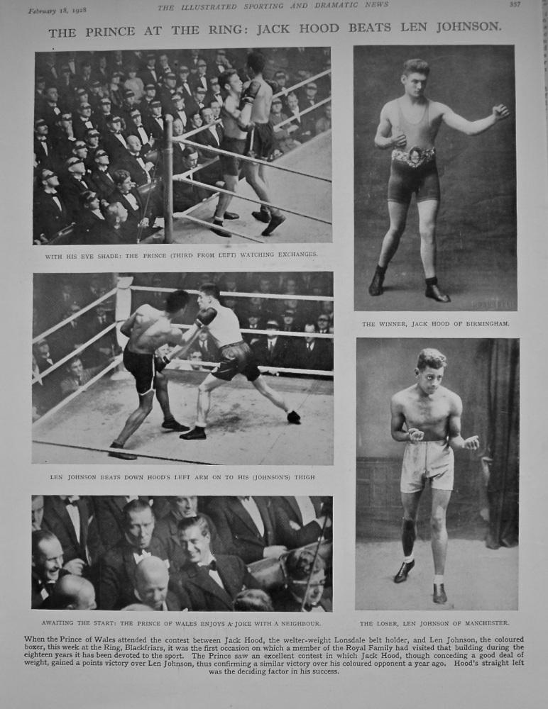 The Prince at the Ring : Jack Hood Beats Len Johnson. (Boxing) 1928.