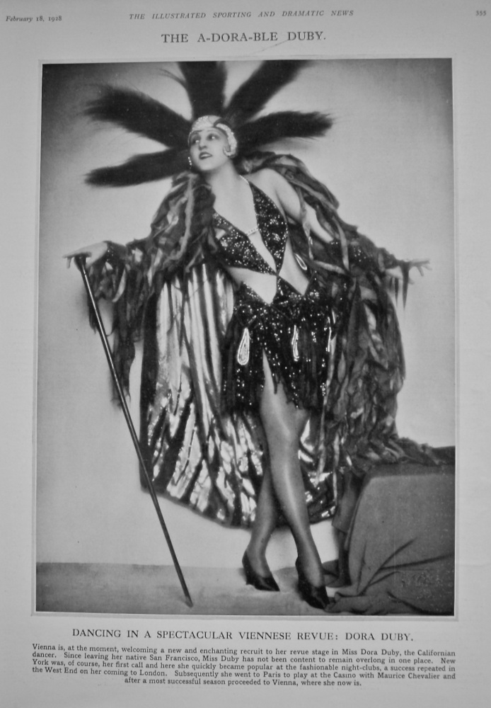 The A-Dora-ble Duby.  (Miss Dora Duby) 1928.