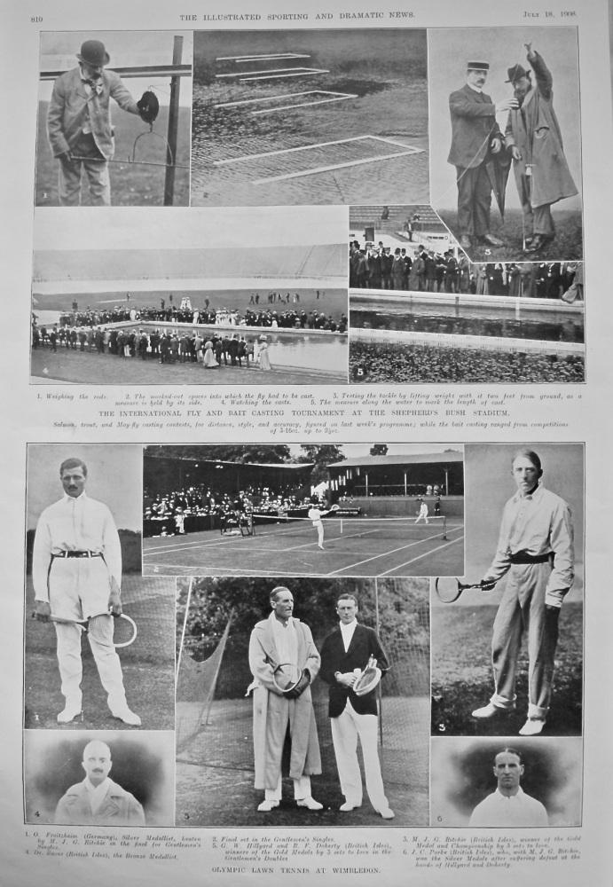 Olympic Lawn Tennis at Wimbledon. 1908.