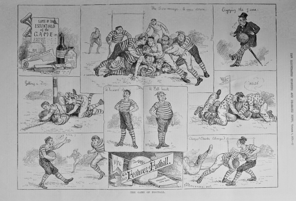 The Game of Football. 1879.