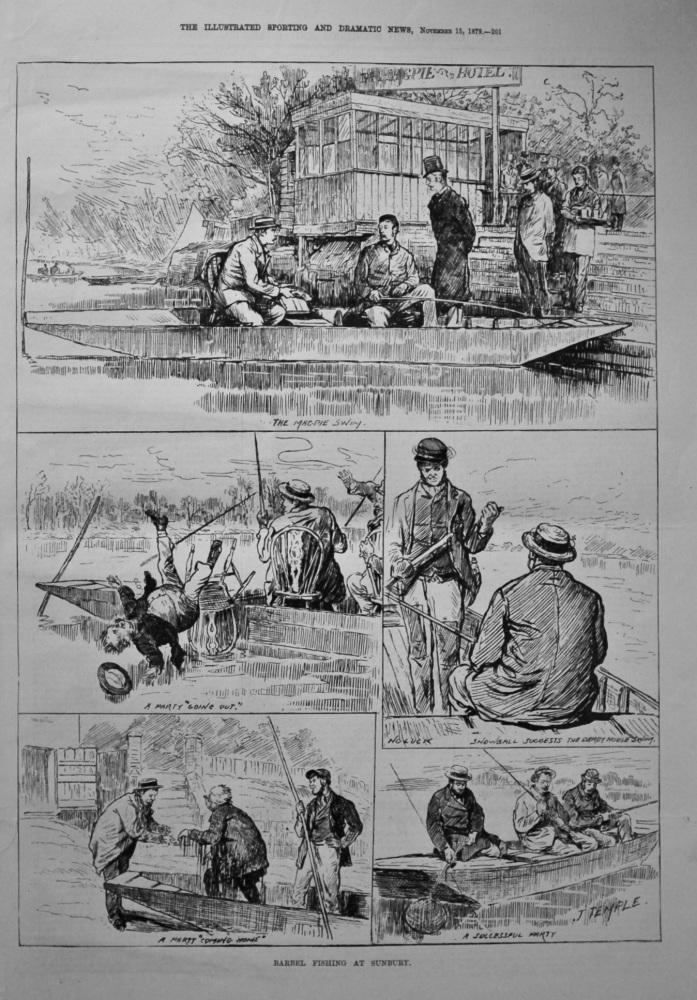 Barbel Fishing at Sunbury. 1879.