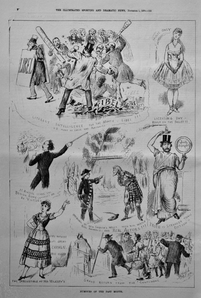 Humours of the Past Month  1879.