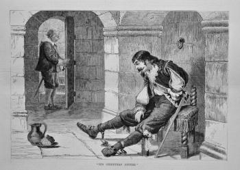 """His Christmas Dinner.""  1879."