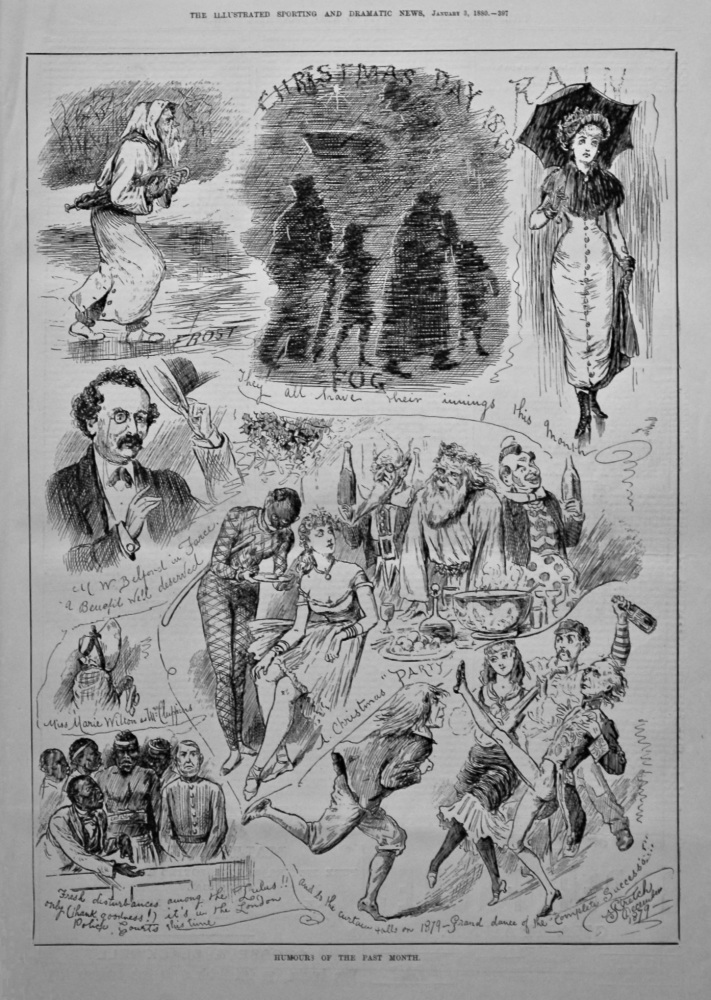 Humours of the Past Month. December.  1880.