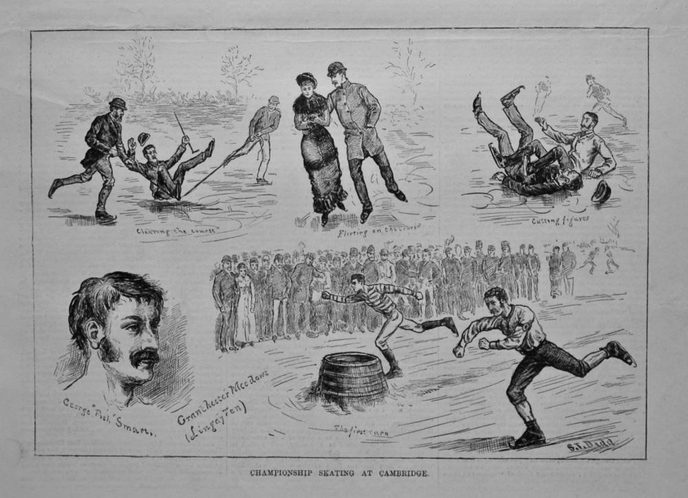 Championship Skating at Cambridge.  1880.