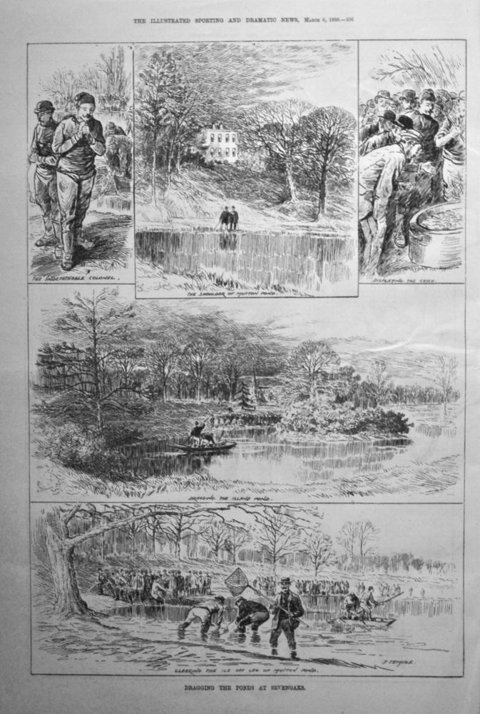 Dragging the Ponds at Sevenoaks. 1880.