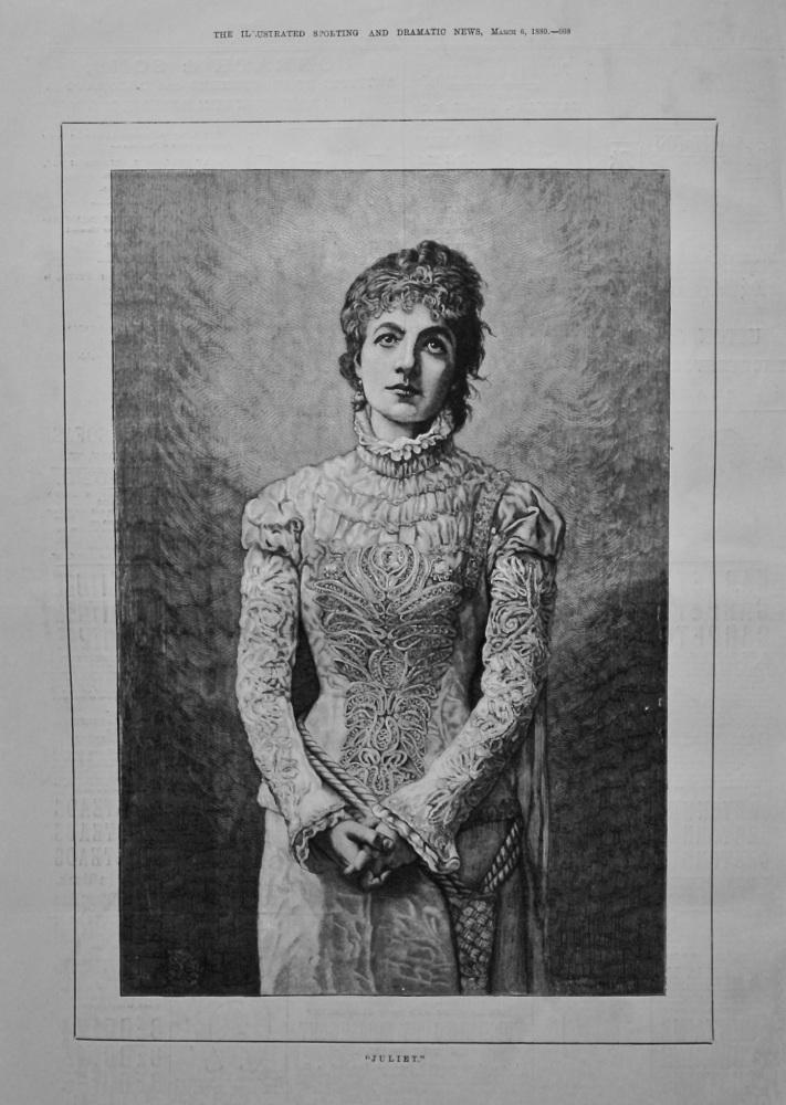 """""""Juliet.""""  1880."""