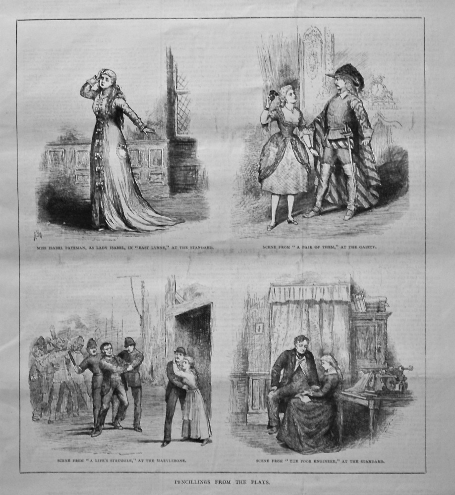 Pencillings from the Plays.  1879.