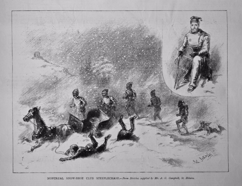 Montreal Snow-Shoe Club Steeplechase.  1879.