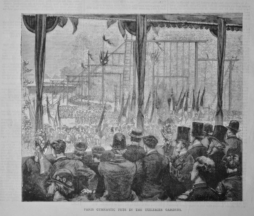 Paris Gymnastic Fete in the Tuileries Gardens.  1878.