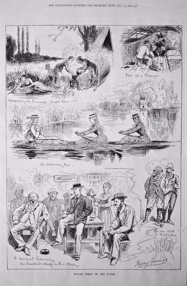 Henley Week on the River.  1878.