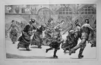 London Sketches - The Skating Rink at Prince's Ground, Brompton.  1875.