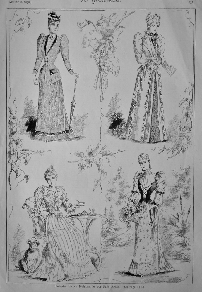 Exclusive French Fashions.  1890.