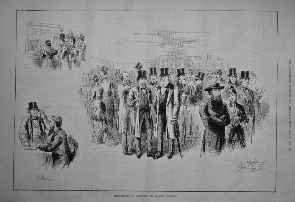 Exhibition of Painters in Water Colours.  1879.