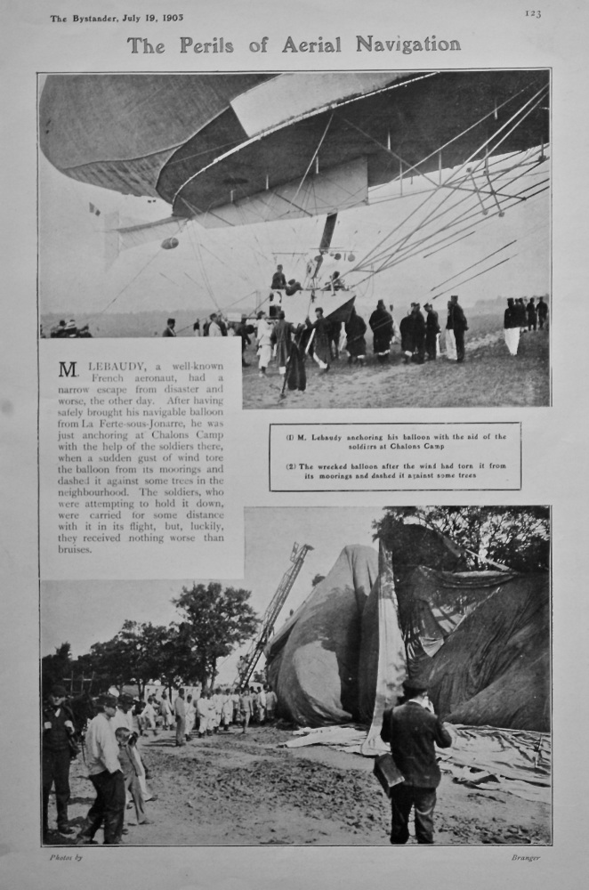 The Perils of Aerial Navigation.  1905.