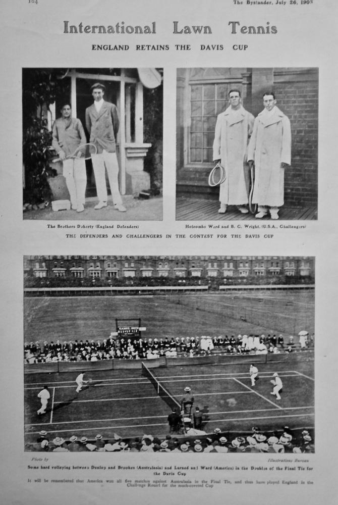 International Lawn Tennis : England Retains the Davis Cup. 1905.