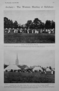 Archery : The Western Meeting at Salisbury.  1905.