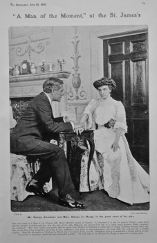 """""""A Man of the Moment,"""" at the St. James's.  1905."""