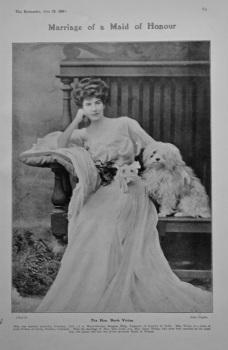 Marriage of a Maid of Honour :  The Hon. Doris Vivian.  1905.
